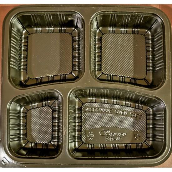40 Oz. Four Compartment Food Container (300 Pcs) | BTB-4CN-BTM