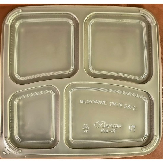 40 Oz. Four Compartment Food Container Lid (300 Pcs) | BTB-4CN-TOP