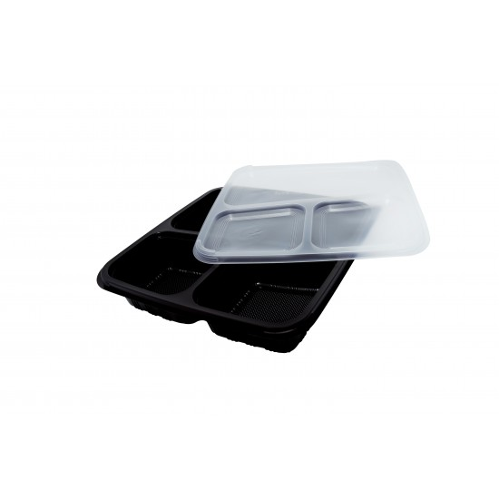 40 Oz. Three Compartment Food Container (300 Pcs) | BTB-3CN-BTM