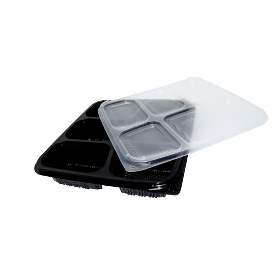 40 Oz. Five Compartment Food Container (300 Pcs) | BTB-5CN-BTM