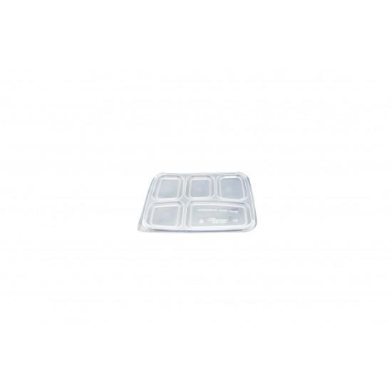 Five Compartment Food Container Lid (300 Pcs) | BTB-5CN-TOP