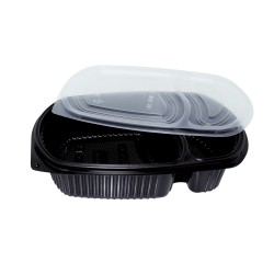32 Oz. Two Compartment Food Container (400 Pcs) | BX-LB-2C-BTM