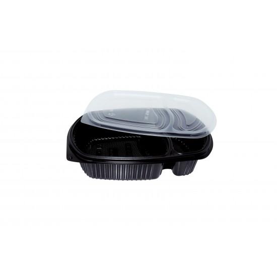 32 Oz. Two Compartment Food Container (400 Pcs) | BX-LB-2C-BTM