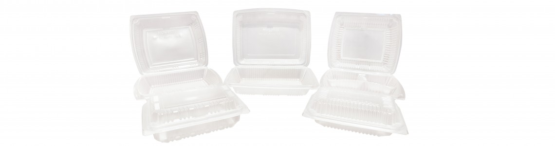 Food Containers with Hinged Lid