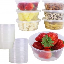 8 Oz. Food Bowl Natural with Lid (500 Sets) | JF-10