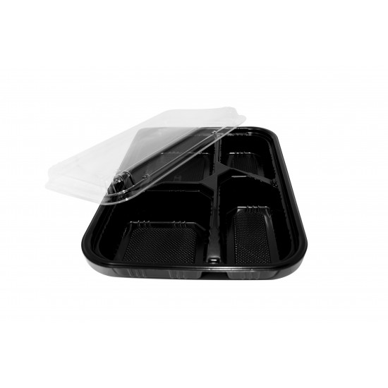 40 Oz. Four Compartment Food Container Lid (600 Pcs) | JLB-4-LID